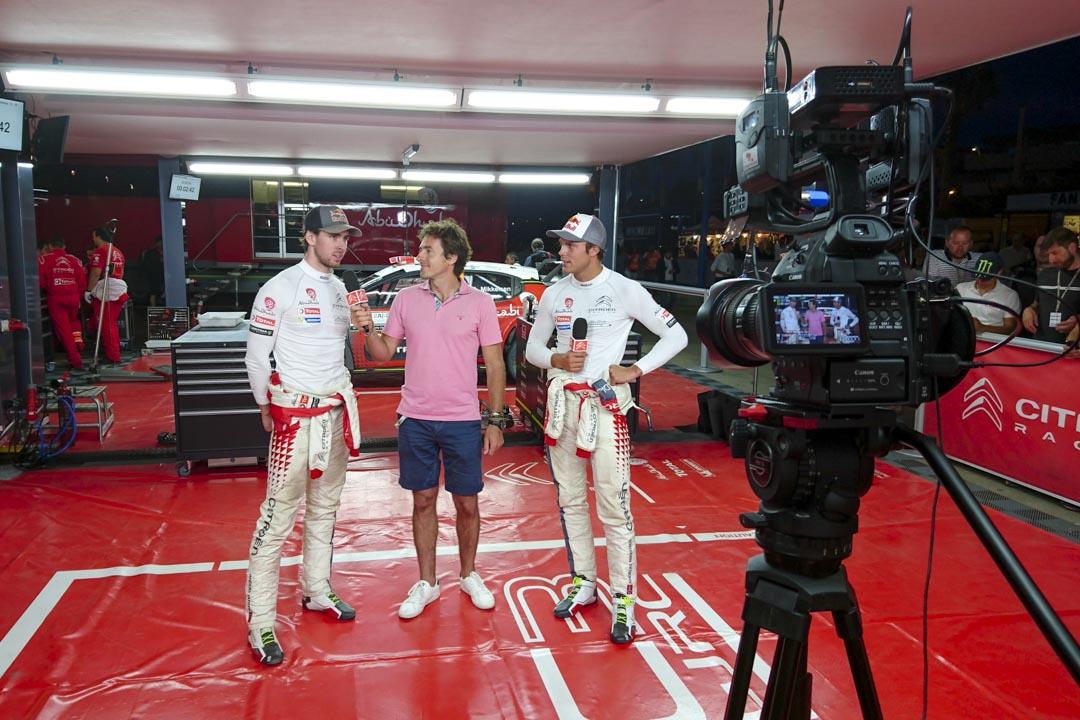 Plateau live avec Andreas Mikkelsen et Anders Jaeger - Citroën Racing WRC