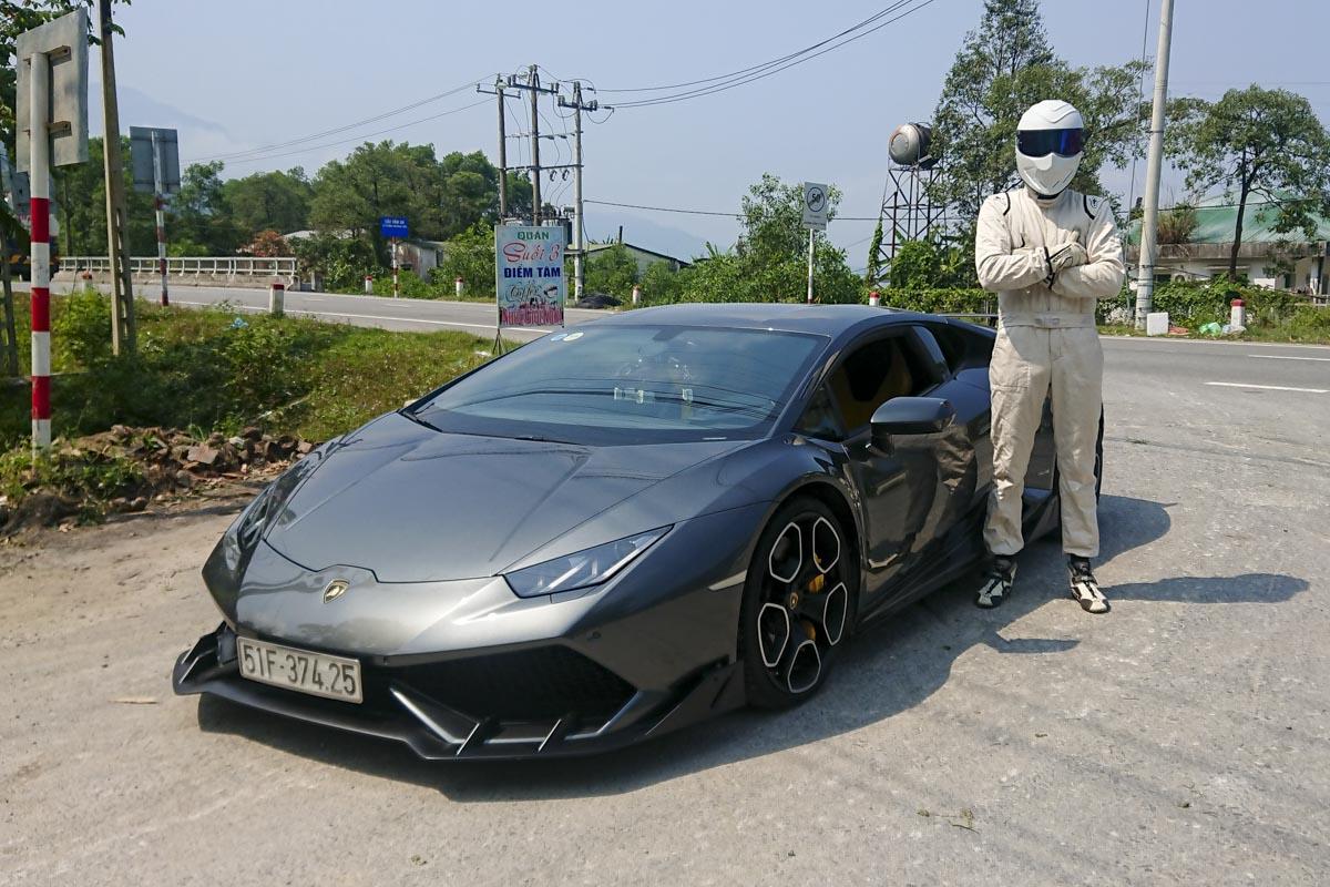 Lamborghini Huracán et le Stig - Road trip au Vietnam - Top Gear France